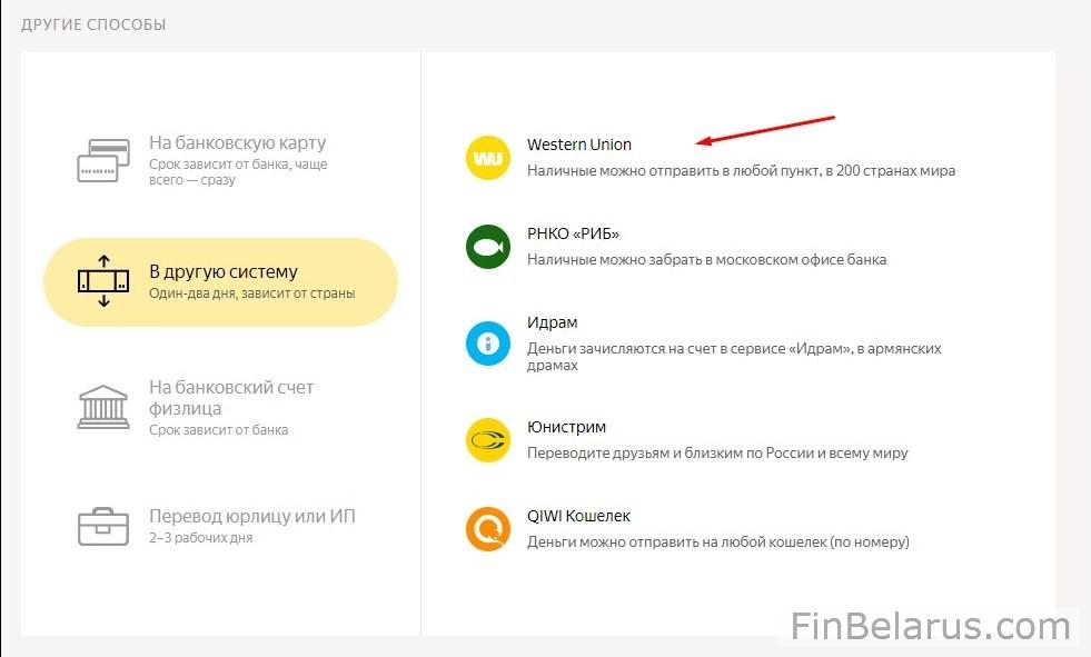 Комиссия за снятие наличных с карты яндекс деньги в беларуси