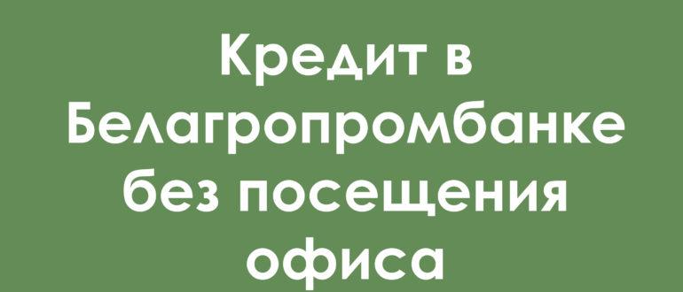 белагропромбанк кредиты на потребительские нужды без поручителей